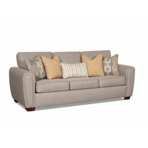 Wood House Upholstery - Mason Sofa in Montego Bay Ash