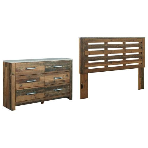 King/california King Panel Headboard With Dresser