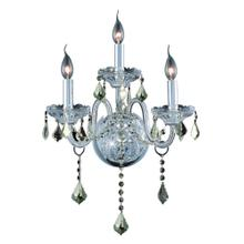7853 Verona Collection Wall Sconce D:14in H:20in E:8.5in Lt:3 Chrome Finish