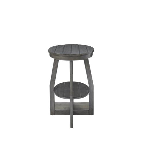 Oval Lower Shelf Accent Table, Grey