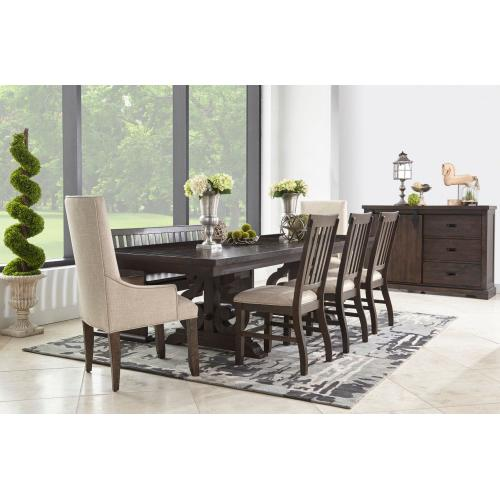 Stone Dining Table with 4 Side Chairs