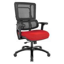 Vertical Black Mesh Back Chair With Shiny Black Base
