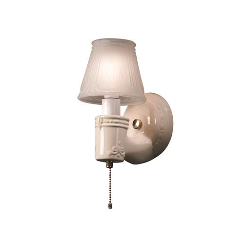 Vintage Round w/ Clip-On Glass Shade