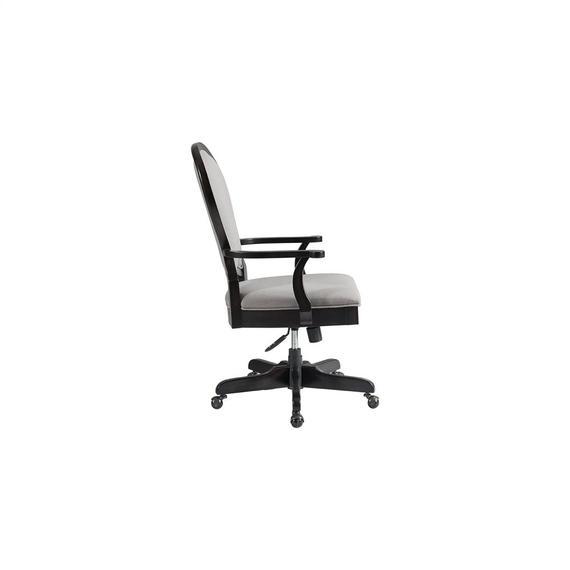 Riverside - Clinton Hill - Round Back Uph Desk Chair - Kohl Black Finish