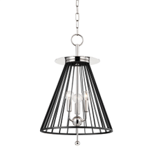 Pendant - POLISHED NICKEL/BLACK