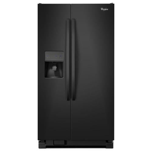 Whirlpool - 33-inch Wide Side-by-Side Refrigerator with Water Dispenser - 21 cu. ft.