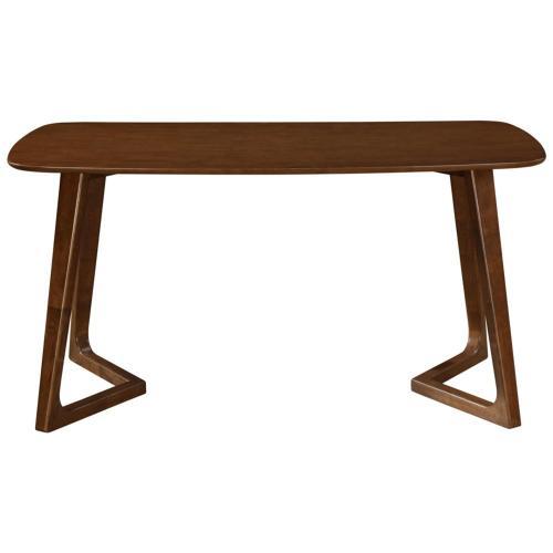 Paddington KD Rectangular Dining Table, Dark Walnut