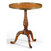 Spiral inlay lamp table