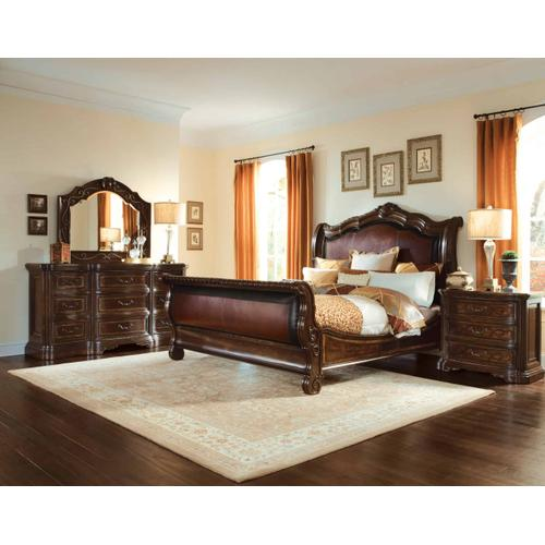 Valencia Upholstered Sleigh California King Bed