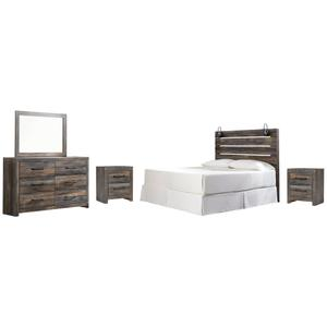 Ashley - King Panel Headboard With Mirrored Dresser and 2 Nightstands