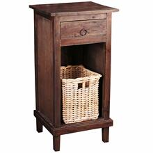 See Details - End Table - Rustic Mahogany