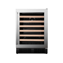 54-bottle Freestanding or Built-in Stainless Steel Wine Cooler