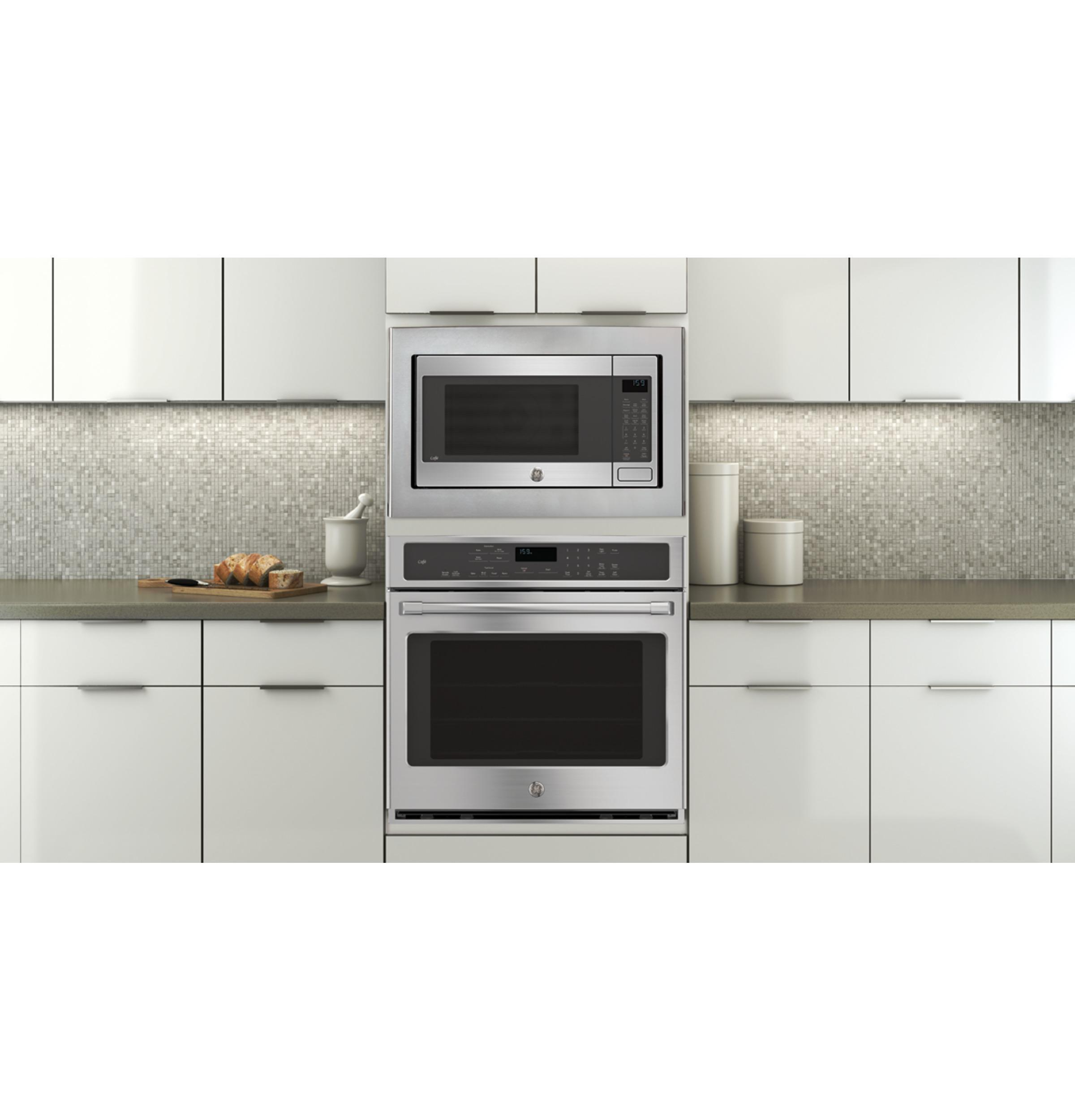 GE Cafe CT9050SHSS 30 Single Electric Wall Oven with 10-Pass Bake Element in Stainless Steel.