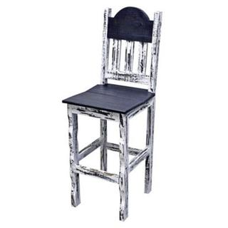 See Details - White Scraped Wood Seat