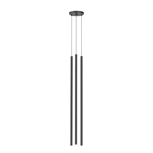 "Sonneman - A Way of Light - Light Chimes LED Pendant [Size=3-Light 32"", Color/Finish=Satin Black]"