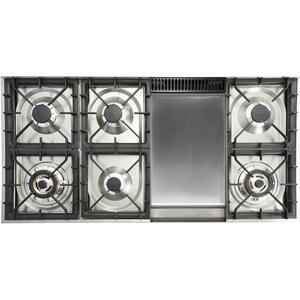 48 Inch Stainless Steel Dual Fuel Natural Gas Freestanding Range