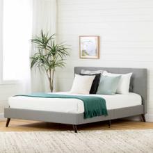 Upholstered Platform Bed and Headboard - 60''