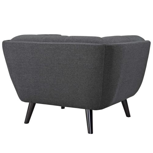 Bestow 2 Piece Upholstered Fabric Armchair Set in Gray