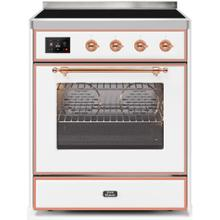 Majestic II 30 Inch Electric Freestanding Range in White with Copper Trim