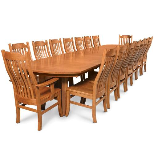 """Simply Amish - Gathering Table, Four 18"""" Leaves"""