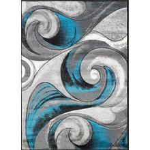 DA-410 TURQUOISE Abstract Wave Rug