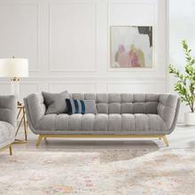 Bestow Crushed Performance Velvet Sofa in Light Gray