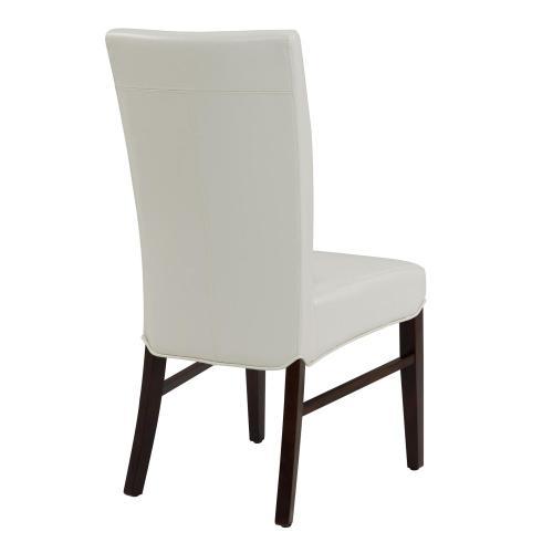 Milton Bonded Leather Chair, White
