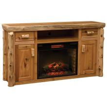 View Product - Entertainment Center with Fireplace - Natural Cedar