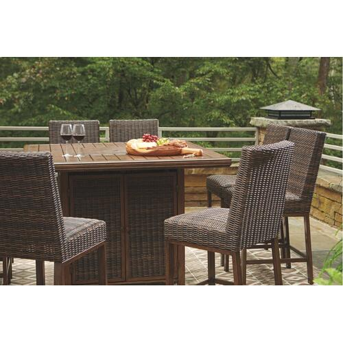 9-piece Outdoor Bar Table Set