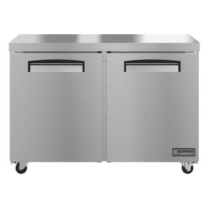 HoshizakiEUF48A, Freezer, Two Section Undercounter, Stainless Doors