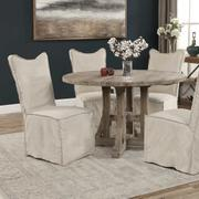 Delroy Armless Chair, Stone Ivory, 2 Per Box Product Image