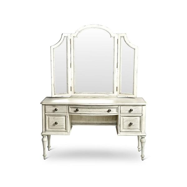 Highland Park Vanity Desk, Cathedral White