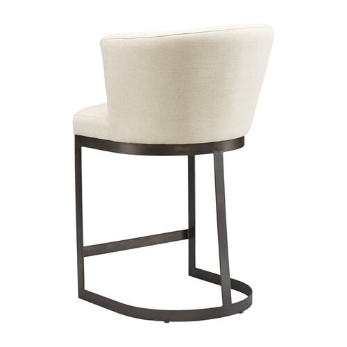 Rhenium Linen Counter Stool