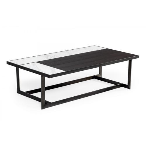 Modrest Fargo - Modern Ceramic & Grey Walnut Coffee Table