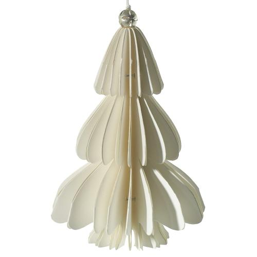 3.5'' x 5'' White Holiday Paper Tree Ornament