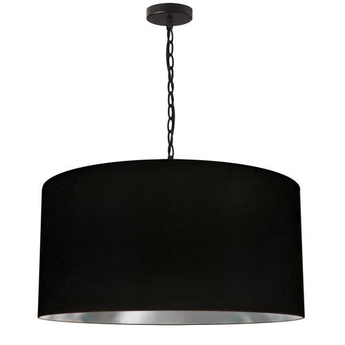 Product Image - 1lt Braxton Large Pendant, Blk/slv Shade, Blk