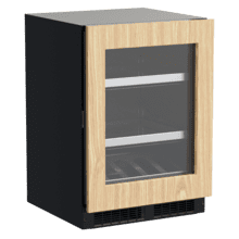 See Details - 24-In Professional Built-In Beverage Center With Reversible Hinge with Door Style - Panel Ready Frame Glass