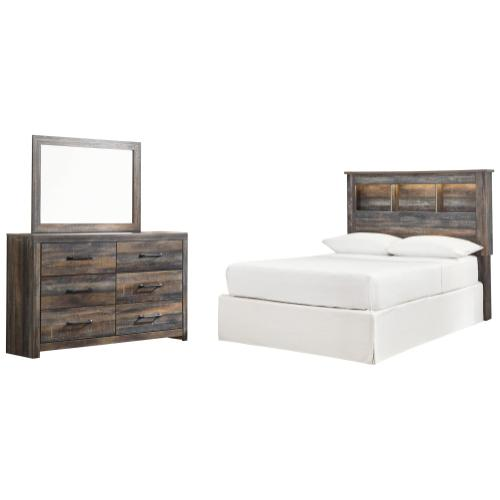 Product Image - Full Bookcase Headboard With Mirrored Dresser