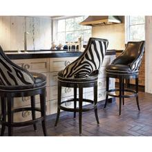 See Details - Zebrano Swivel Counter Stool