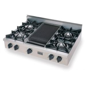 "Five Star36"" Gas Cooktop, Open Burners, Stainless Steel"