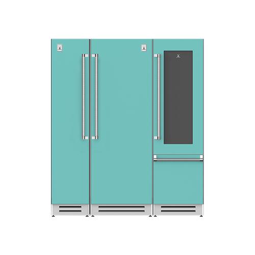 "Hestan - 72"" Column Freezer (L), Refrigerator and Wine Refrigerator ® Ensemble Refrigeration Suite - Bora-bora"