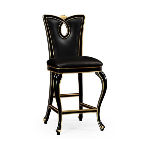 Black Painted Barstool (Side)