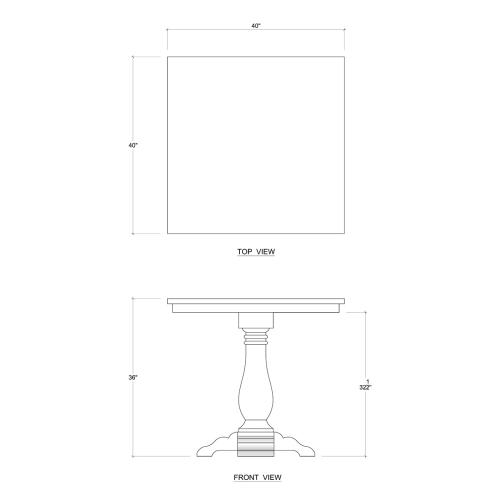 Product Image - Trestle Counter Table
