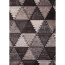 "Power Loomed Hand Carved Geometric Design Tara 301 Area Rug by Rug Factory Plus - 5'4"" x 7'5"""