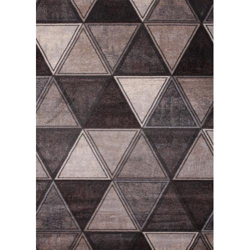"Power Loomed Hand Carved Geometric Design Tara 301 Area Rug by Rug Factory Plus - 5'4"" x 7'5"""