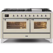 60 Inch Antique White Dual Fuel Natural Gas Freestanding Range