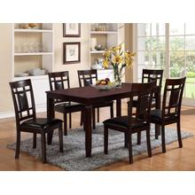 Paige 7 Piece Espresso Dining Set