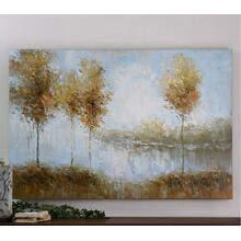 View Of The Lake Hand Painted Canvas