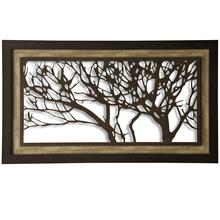 Metal Laser Cut Tree I  2-Step Framed Panel