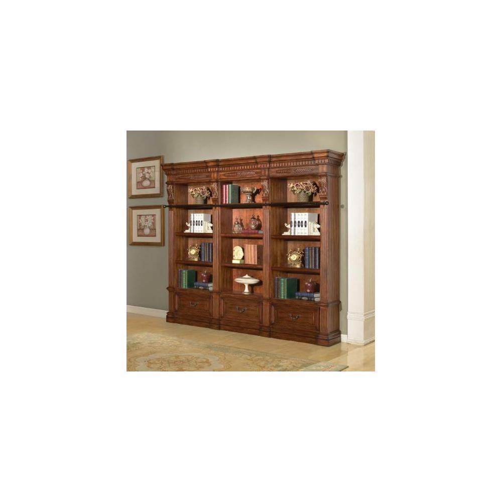 GRAND MANOR GRANADA 3 piece Museum Bookcase (9030 and 2-9031)